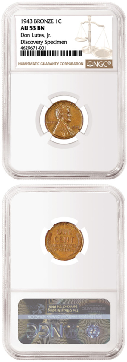 First found the year it was struck, but until now never seen in public or sold, the Lutes 1943 bronze cent has been slabbed by NGC. It will be sold by Heritage Auctions. (Photos courtesy of NGC.)