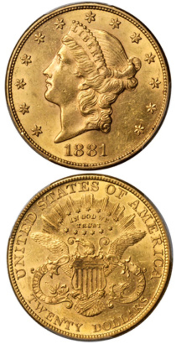 Topping the bidding at the Stack's Bowers Galleries Baltimore auction held in conjunction with the Whitman show in June was this AU-58 1881 $20 gold piece that brought $88,125.