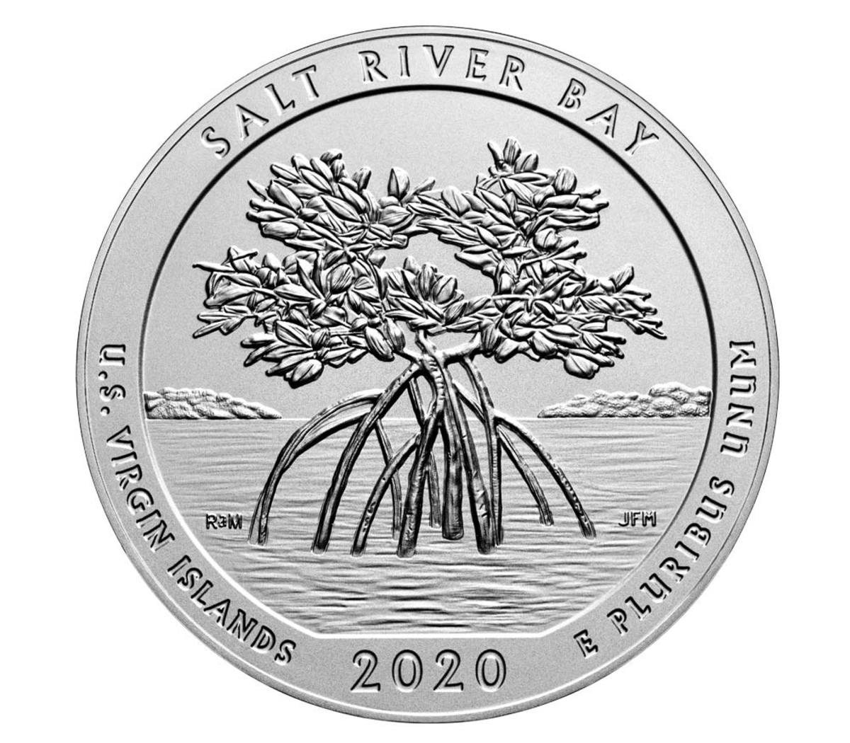 The Salt River Bay 2020 Uncirculated Five-ounce silver coin goes on sale Sept. 18 at noon EST. (Image courtesy U.S. Mint)