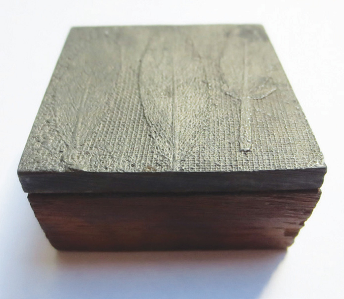 Leaf block believed to have been use to print money. Image courtesy Library Company of Philadelphia.
