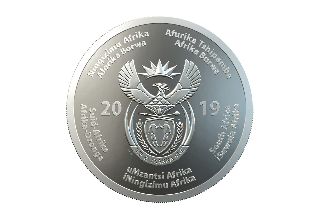 Common obverse for silver and bronze alloy coin. (Image courtesy of South African Mint.)
