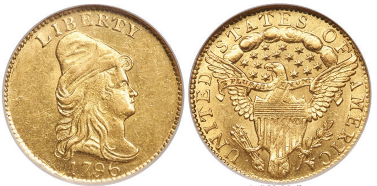 $300,000 was the price tag for this 1796 No Stars quarter eagle, graded MS-63.