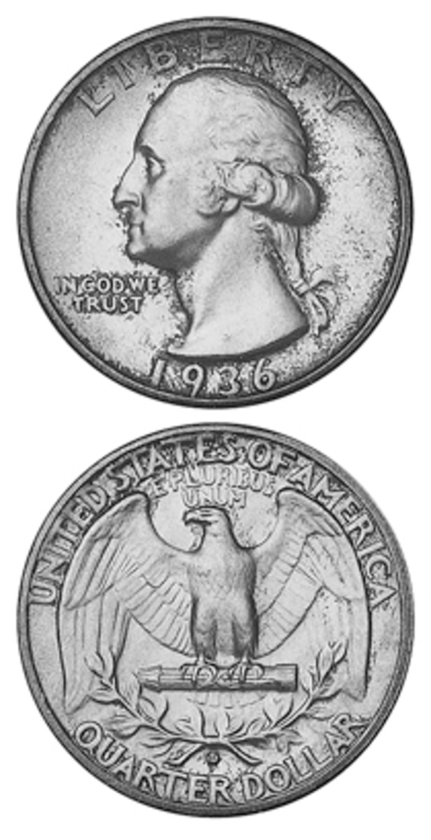 The 1936-D quarters were fairly easy to find in change in the circulation finds era, but the top-grade pieces are much rarer.
