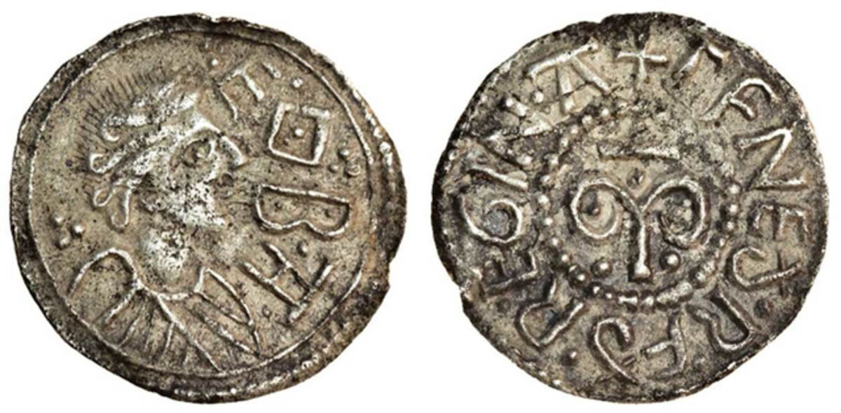 Queen Cynethryth of Mercia, wife of Offa, features on the obverse of this seldom seen lightweight penny struck before 784. In gVF it took $10,152. Cynethryth is the only Anglo-Saxon queen known to have had coins issued in her name. These are unique in Western Europe for this period. Image courtesy and © Spink London.