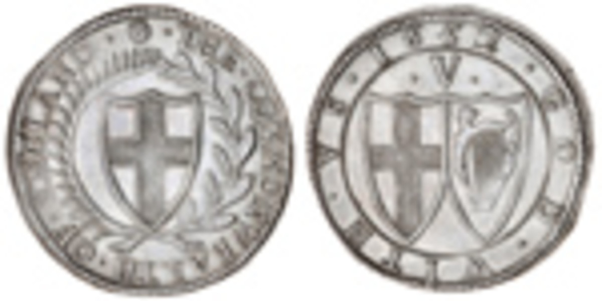 Likely the finest known Commonwealth crown of 1652 (S-3214; KM-392) that was bid-up to $50,120. Images courtesy and © Spink.