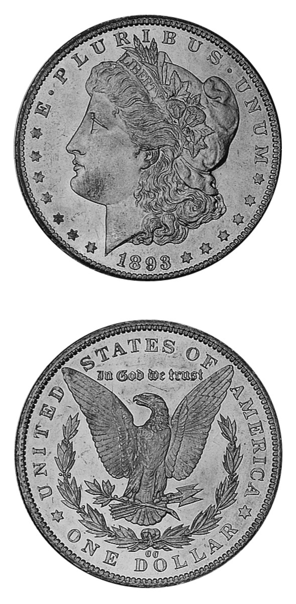The 1893-CC Morgan dollar has the special distinction of being the last of the Carson City  Morgan dollars – and one that is expensive and rare in upper grades.