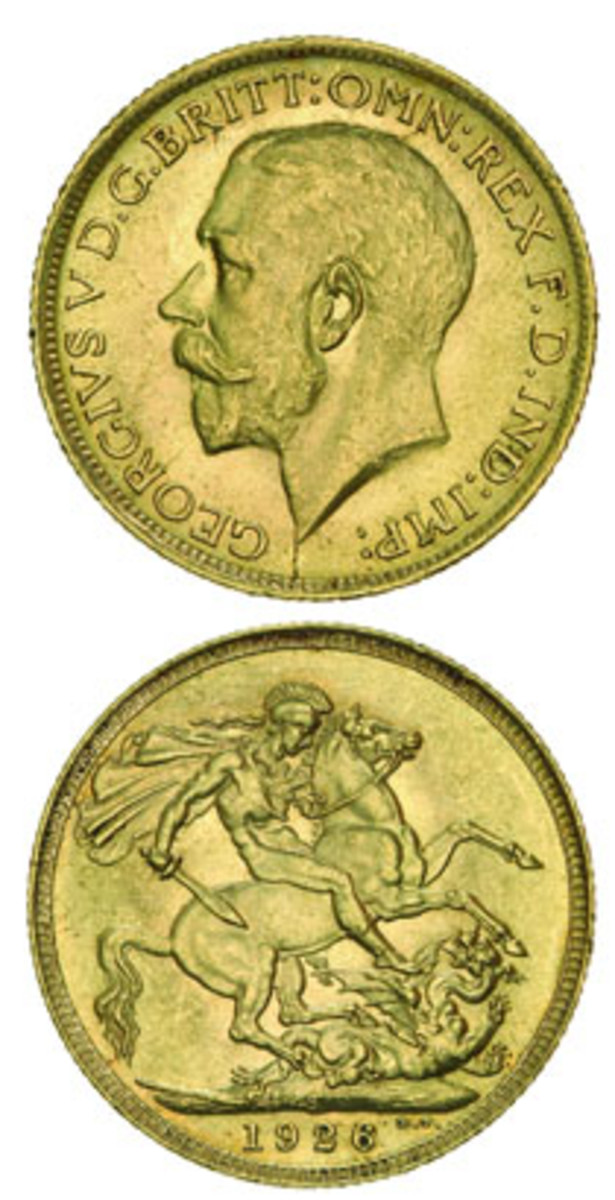 The 1926 Sydney Mint sovereign (KM-29) recognized as one of the finest known that sold for $39,961 in choice uncirculated condition at Noble's Sydney sale. (Images courtesy Noble Numismatics)