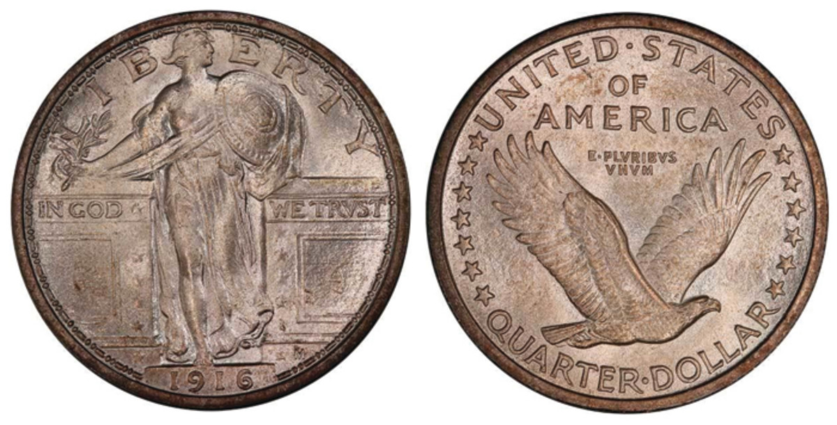 Lot 240. 25C 1916 STANDING LIBERTY. PCGS MS67 FH. One of the finest known examples of this 20th Century rarity.  Estimate $130,000+.