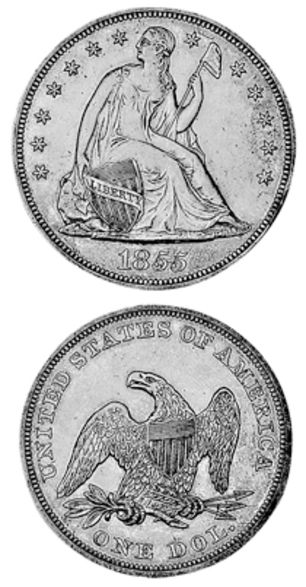 Several factors – including a low mintage, lack of public and collector interest at the time, and limited supply in today's market – have caused the 1855 Seated Liberty dollar to become a true sleeper.