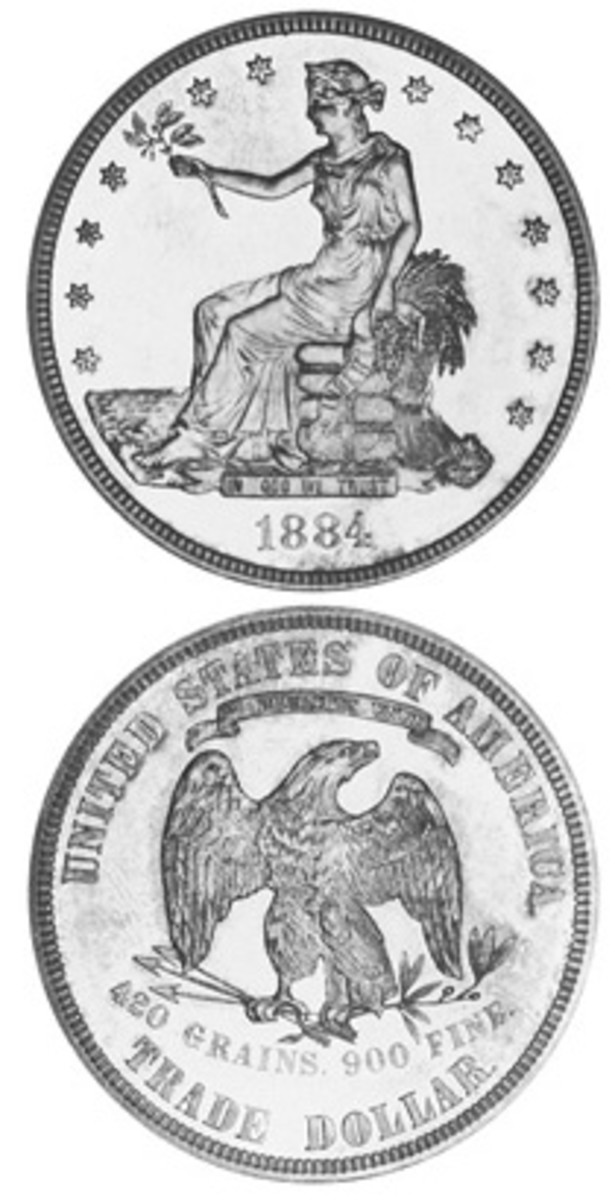 Although only 10 examples of the 1884 Trade dollar are known, it has long lived in the shadow of the even rarer 1885. Just five examples of that date are known to exist.