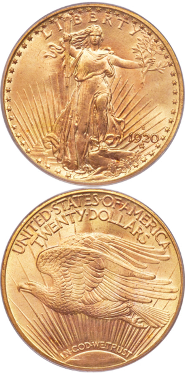 The third finest known 1920-S doulbe eagle will be put on the auction block by Heritage.