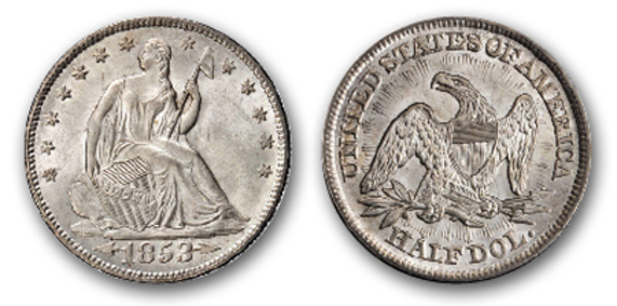In one short year, 1853, the U.S. Mint produced a half dollar that entices many present-day collectors. This Gem 1853 Liberty Seated Half Dollar with arrows and rays, MS-66+, is an example of that coin. (Image courtesy Stack's Bowers)