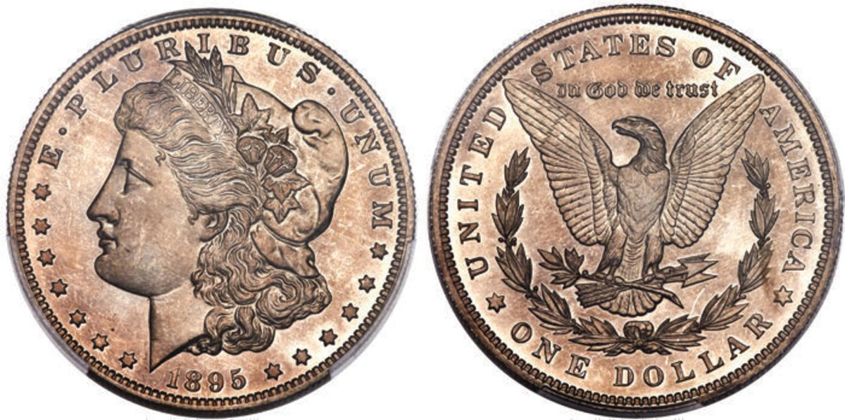 The proof-only issue of the 1895 Morgan dollar will be a popular lot among set collectors.