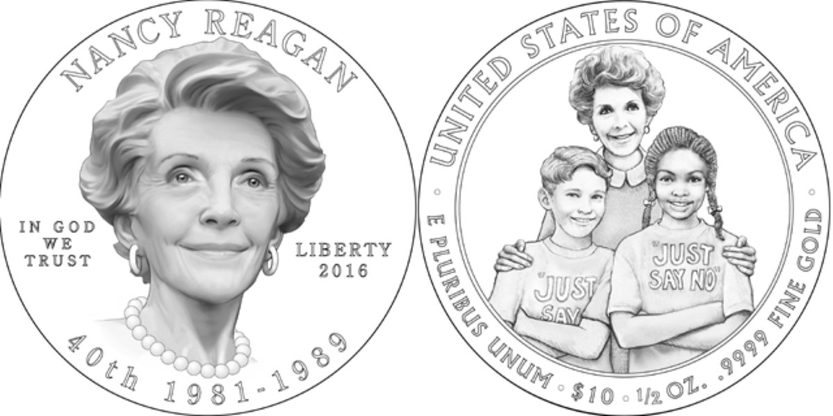 The Nancy Reagan First Spouse gold coin will mark the sixth time a U.S. coin has featured a living person during the time of release.