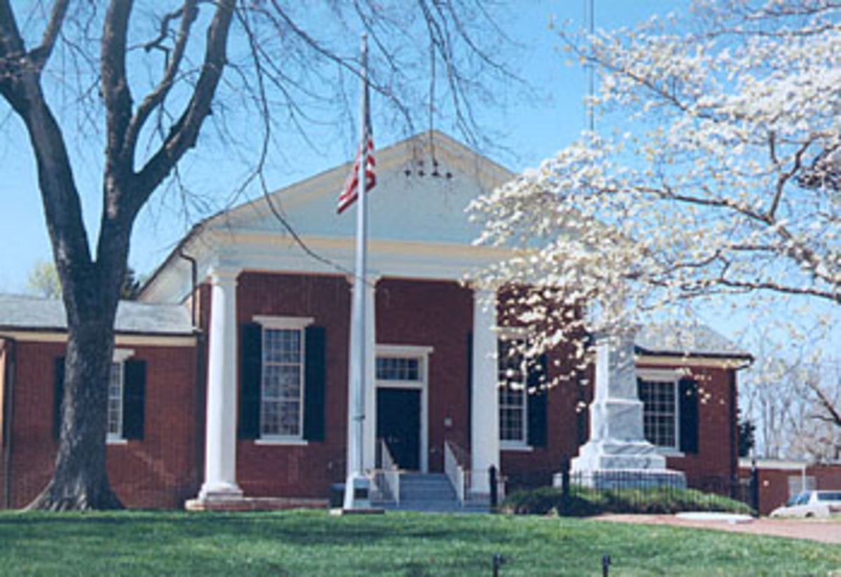 This is the Nottoway County Courthouse at it appears to day in Nottoway Court House, Va. The building was erected in 1843 and would have looked the same during the Civil War.