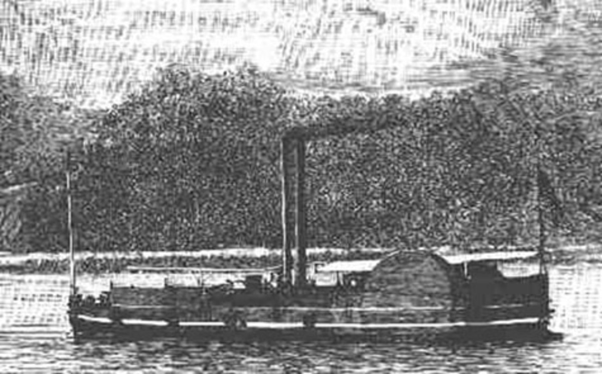 A contemporary view of a U.S. gunboat similar to the U.S.S. Nansemond.