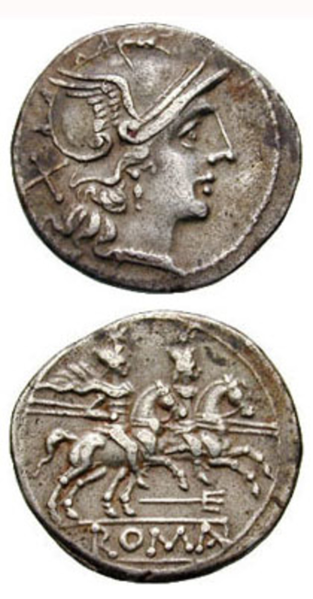 The silver composition of ancient Roman coins may indicate the source of that silver.