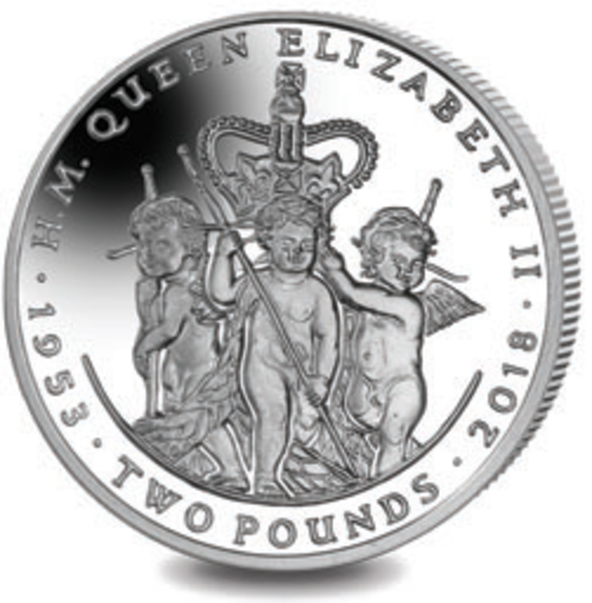 Tribute coin from South Georgia (two pounds). (Image courtesy Pobjoy Mint)