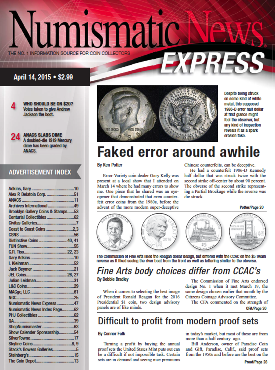 Download the latest issue of Numismatic News Express here!