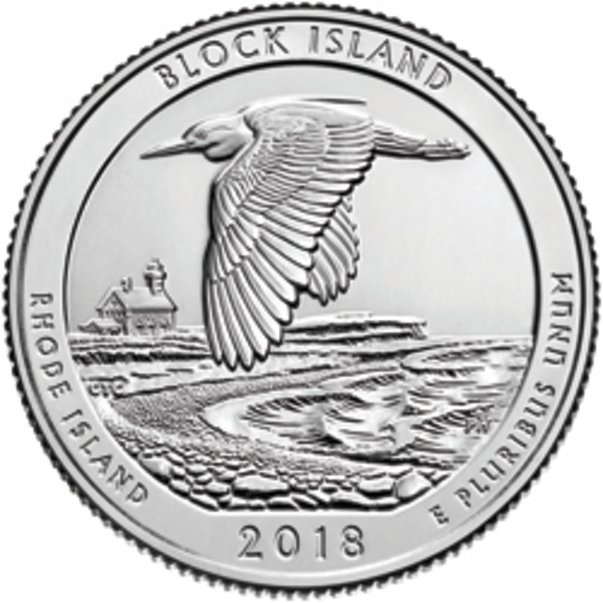 The new 2018 Block Island National Wildlife Refuge quarter, the latest in the America the Beautiful series.