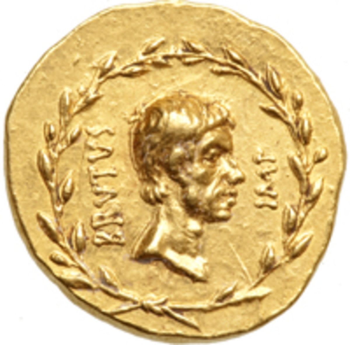 Among the rarities in The Tyrant Collection is a gold Roman aureus issued by Marcus Junius Brutus, whom history records was the assassin of Julius Caesar, dictator of Rome.