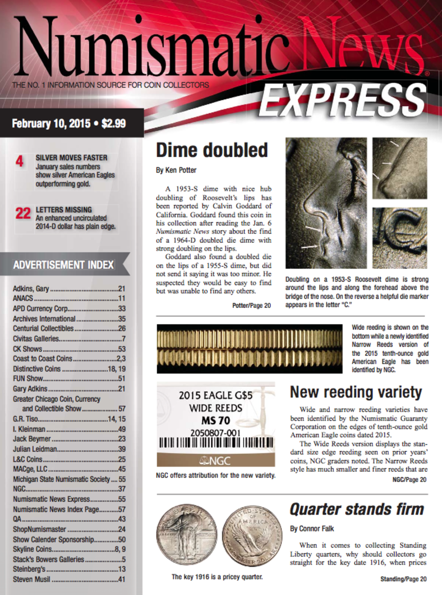 Get the latest copy of Numismatic News Express here!