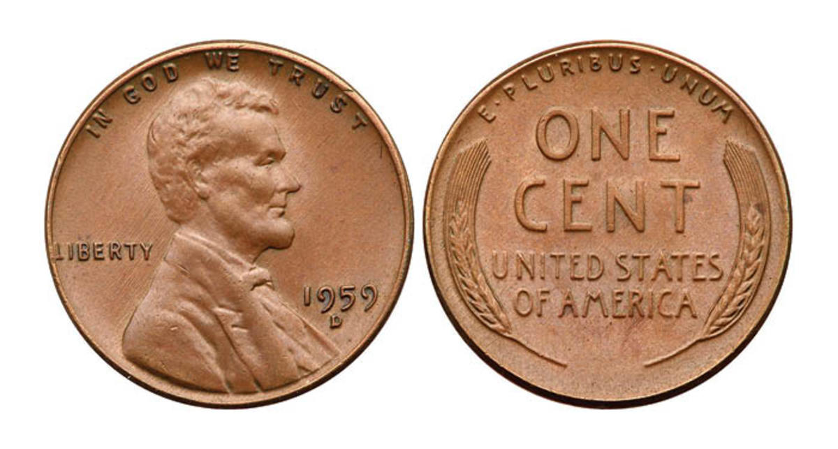 """This 1959-D Lincoln Cent """"mule"""" bears the 1959-D obverse paired with the 1958 Wheat reverse."""