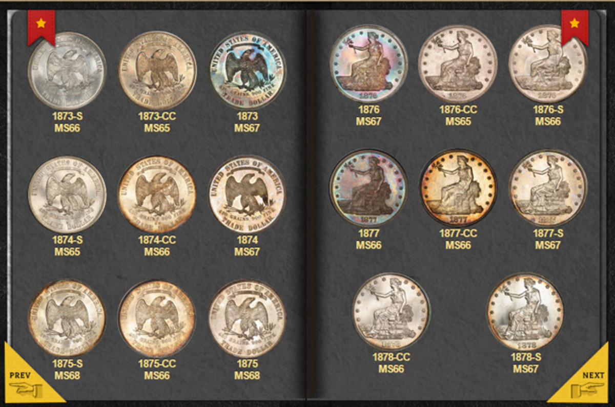 Your PCGS Set Registry® coins can have a handsome, customized online showcase using the new, free PCGS Digital Coin Album feature.  (Photo credit: PCGS.)