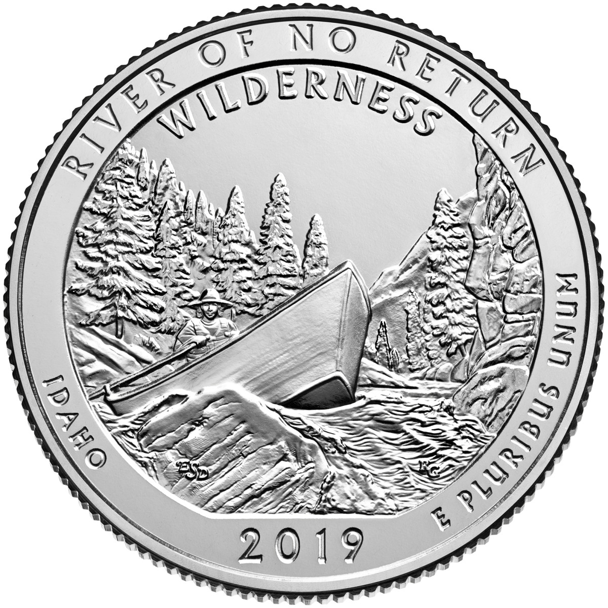 The America the Beautiful quarter honoring Frank Church River of No Return Wilderness in Idaho is the final ATB to launch in 2019 as well as the 50th coin issued in the program. (Image courtesy U.S. Mint.)