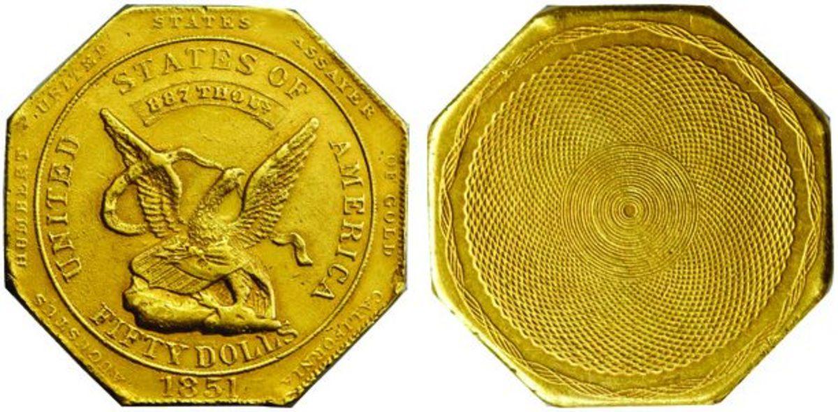 1851 augusts humbert $50