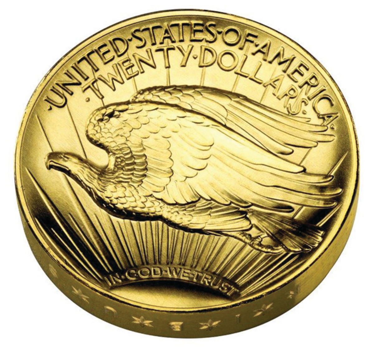 Reverse of the 2009 Ultra High Relief gold coin