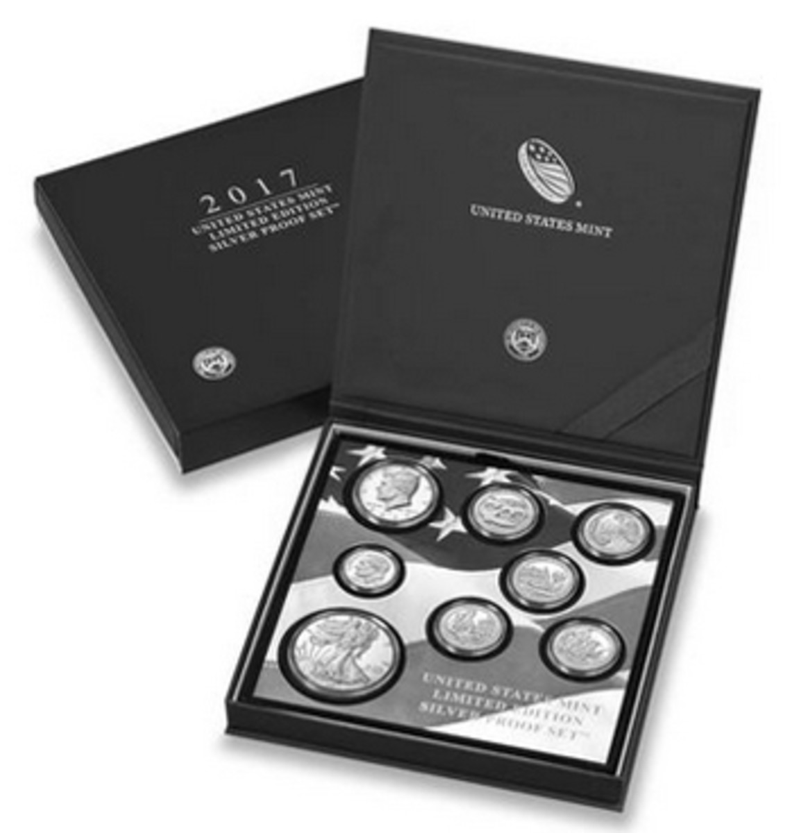 The 2017 Limited Edition Silver Proof Set, containing a 2017-S proof silver American Eagle, will be offered by the Mint on Oct. 5.