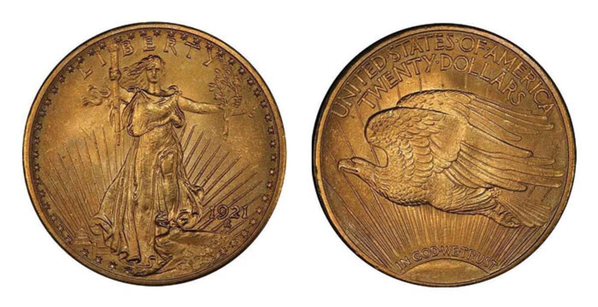 Lot 494: $20 1921 PCGS MS64. Sale estimate $375,000-$400,000. (Image courtesy of Legend Rare Coin Auctions)