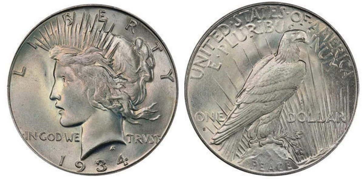Lot 527 was a 1934-S Peace dollar that tied for top-seller when it realized the same price as Lot 254: $79,312.50.