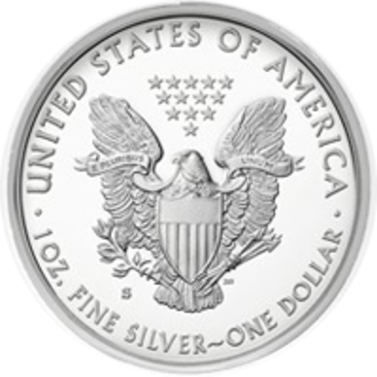 2017-S proof silver American Eagle reverse