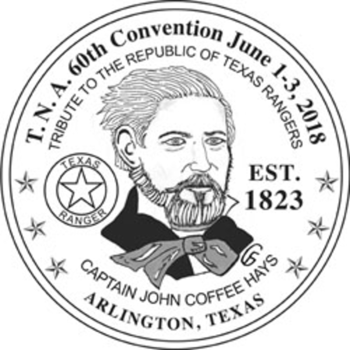 John C. Hays will appear on the obverse of the 2018 TNA medal.