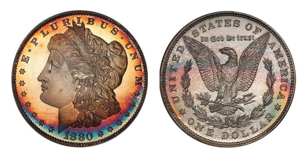 Lot 387: $1 1880 PCGS PR67+ CAM CAC. Sale estimate $20,000-$25,000. (Image courtesy of Legend Rare Coin Auctions)