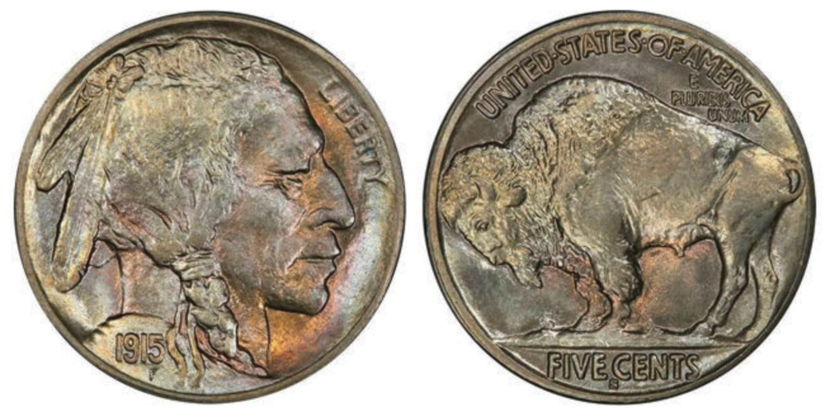 Lot 220's 1915 Buffalo nickel realized a world-record price of $55,812.50, more than $15,000 over its pre-sale estimate.
