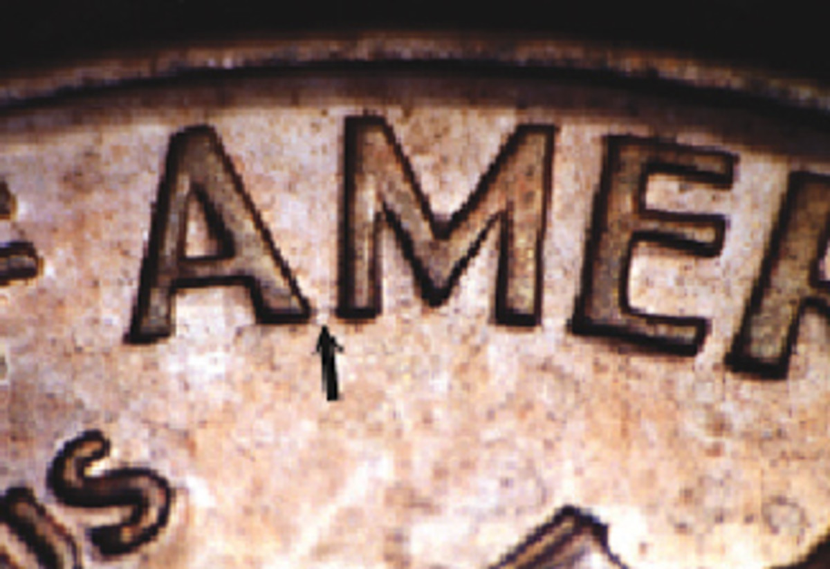 Here is an example of the 1992 cent with the Wide AM lettering. You can see the distance at the base of the two letters (see arrow).