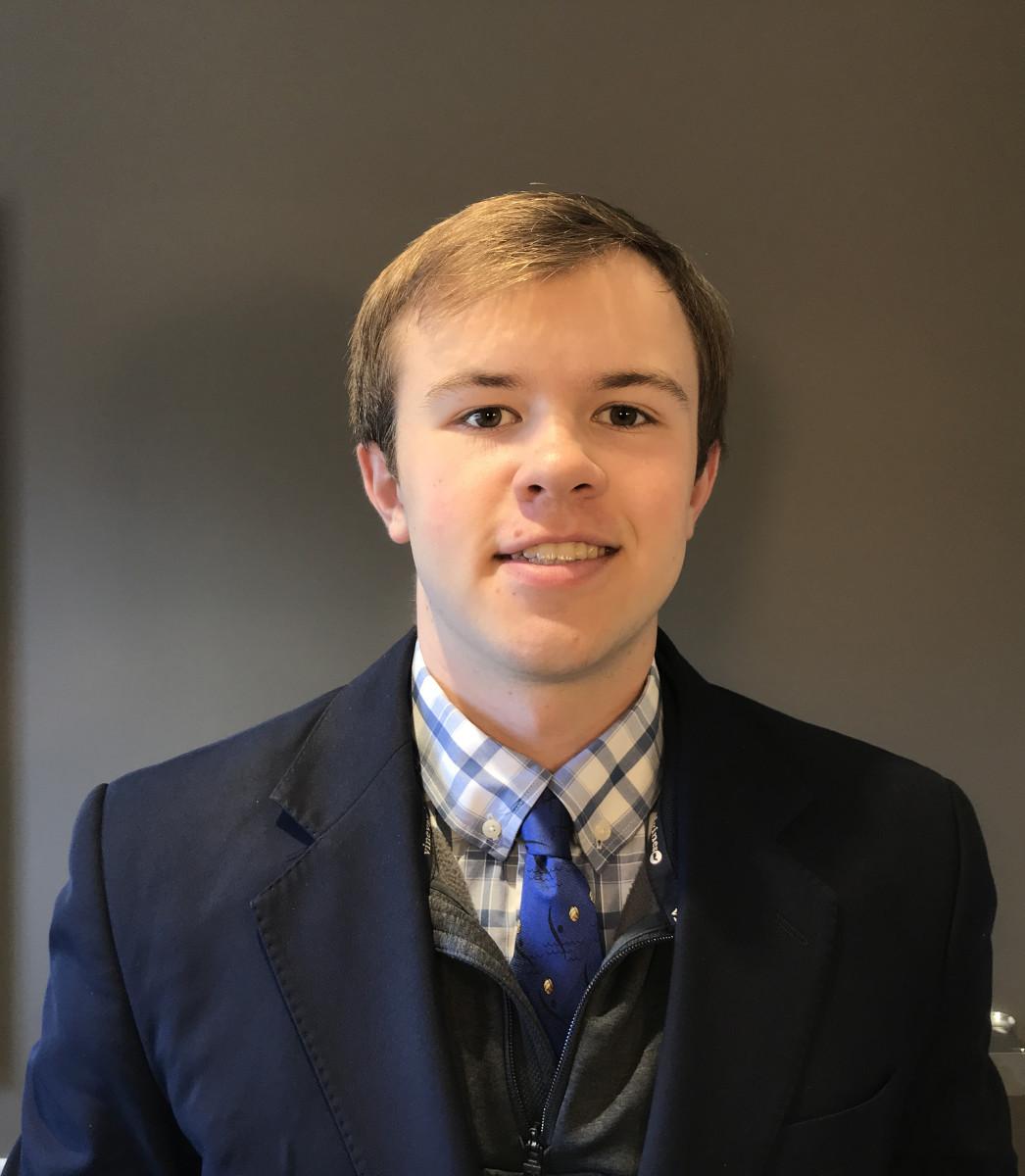 Scholarship winner Christain Hartch