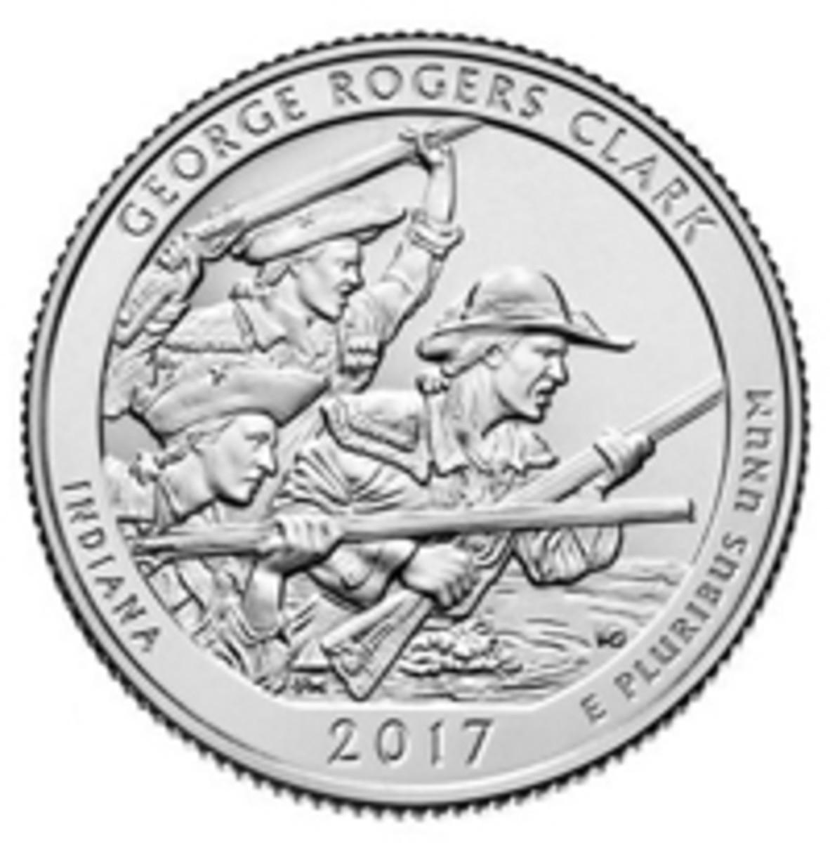 The George Rogers Clark National Historical Park coin, part of the American the Beautiful series.