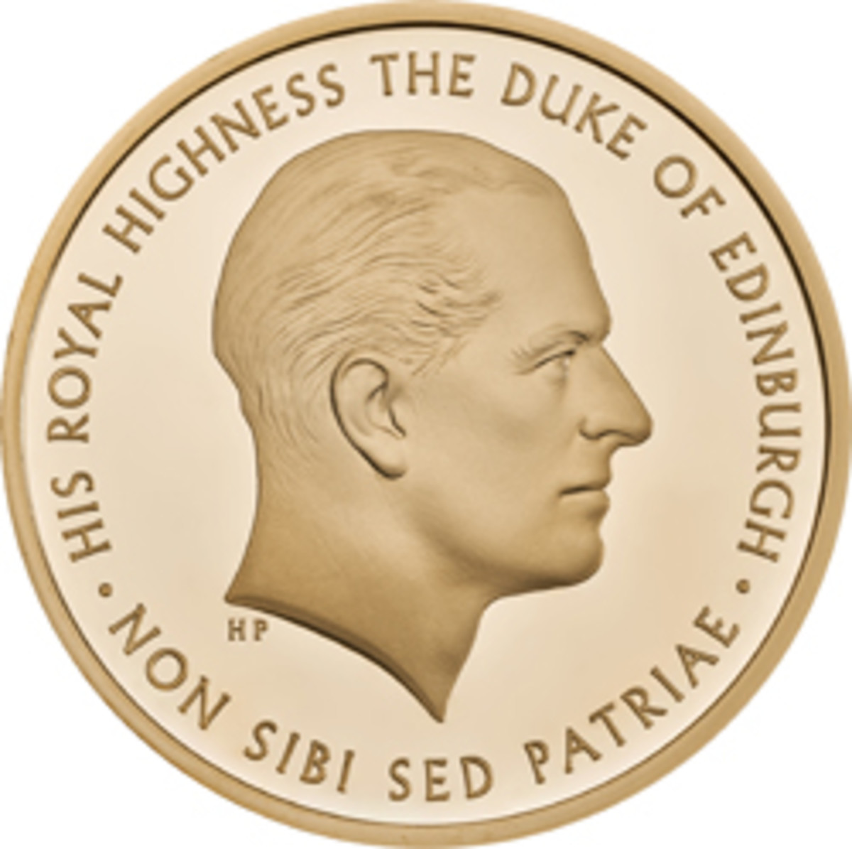 The reverse of the Prince Philip commemorative £5 coin showing the effigy of the Prince. (Image courtesy & © The Royal Mint)