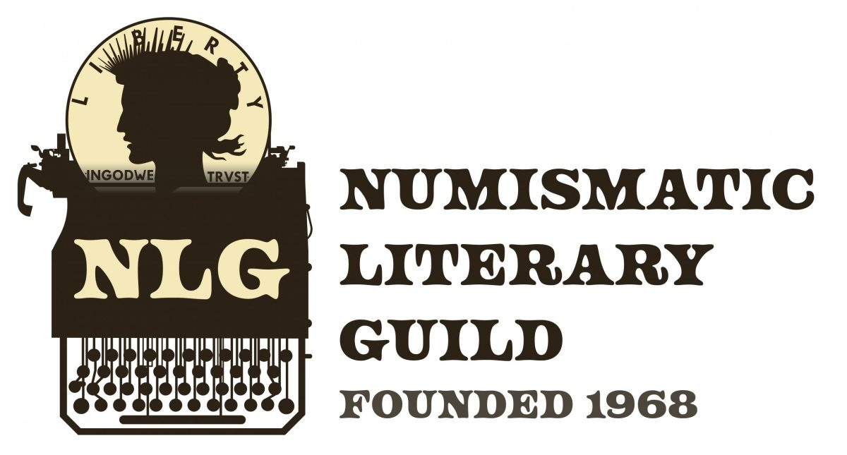 Numismatic Literary Guild was founded in 1968. Shown is a picture of their logo.