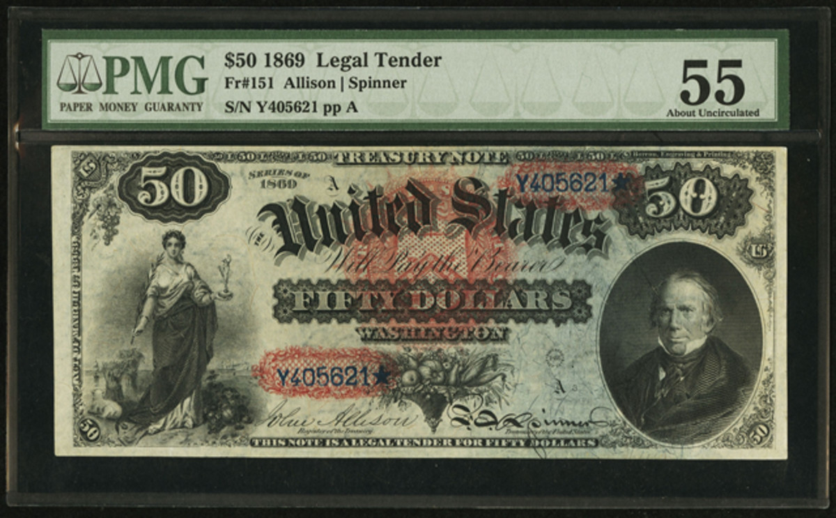 """""""Rainbow"""" $50 expected to bring in excess of $175,000 in Heritage's upcoming sale."""