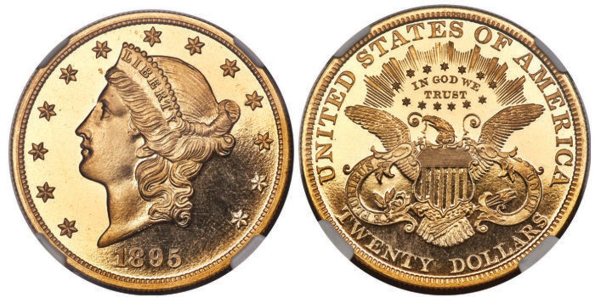 n 1895 Liberty $20, graded Prf-67 Ultra Cameo, came in a close third with a hammer price of $234,000. It is the single-finest certified example of its kind.
