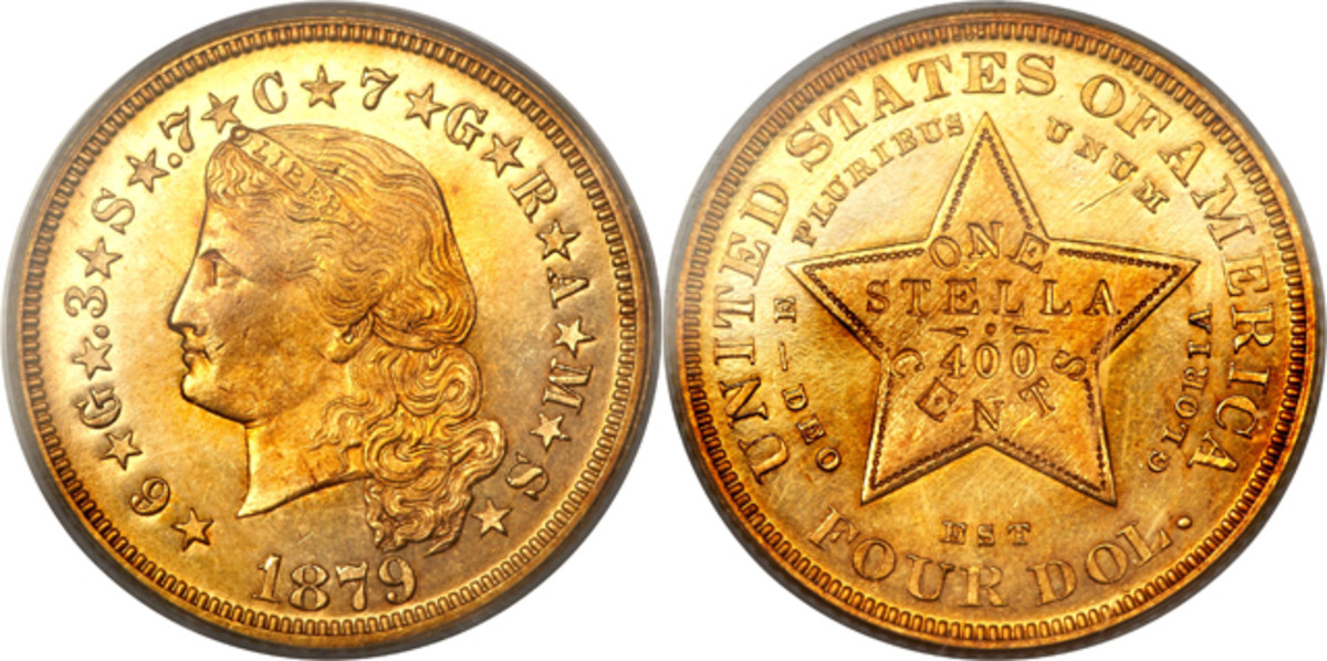 1879 Flowing Hair gold $4