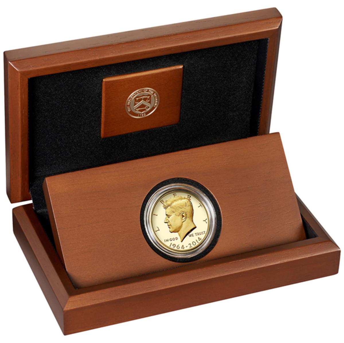 The Kennedy half dollar coin display