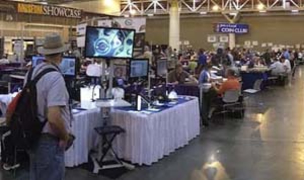 A traditional coin show offers collectors a wide range of opportunities.