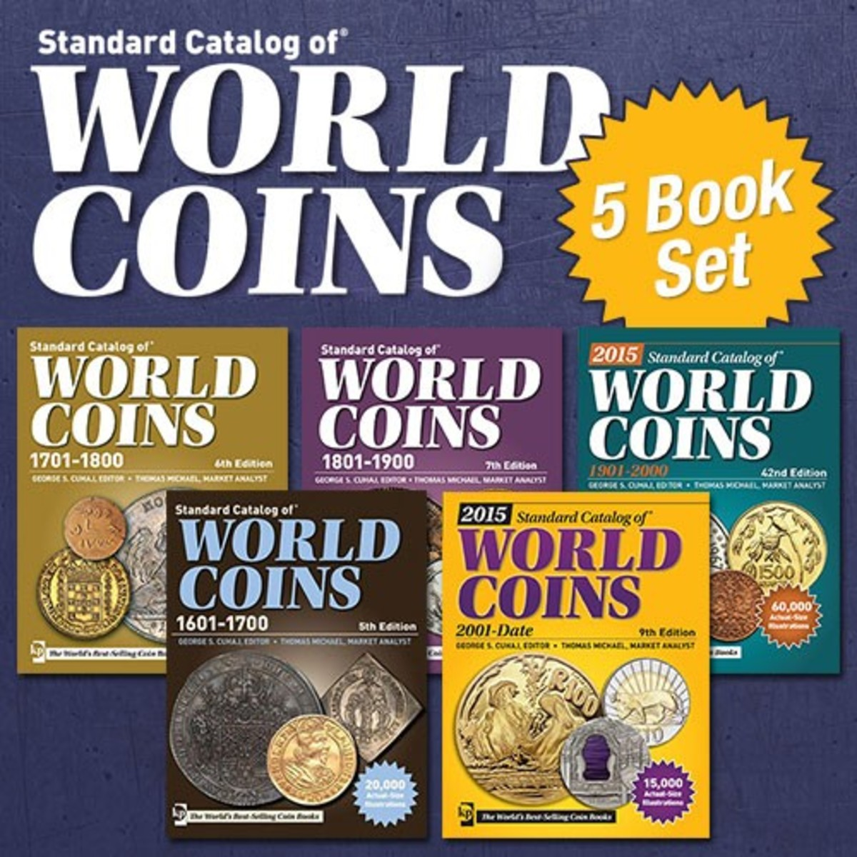 Standard Catalog of World Coins 5 Book Set