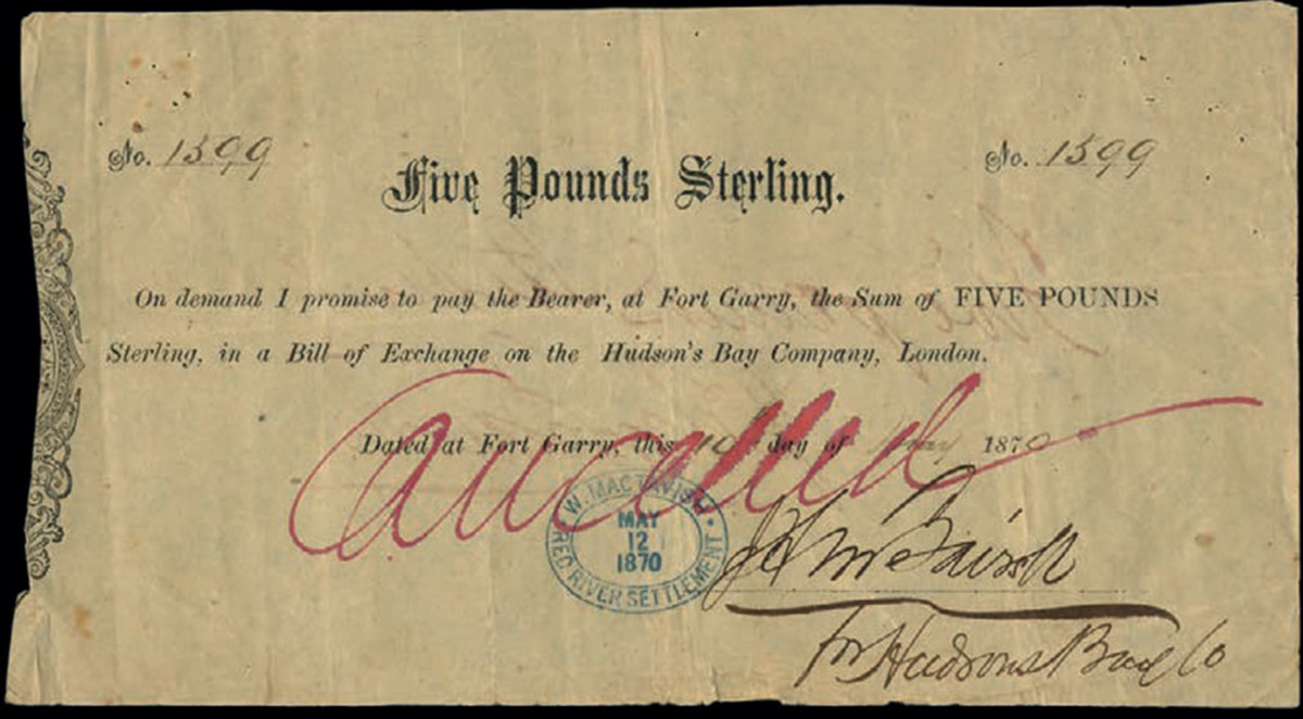 Lot #733 (P-S1102), Fort Garry, Hudson's Bay Company, Canada, hammered for £4,800. (Photo courtesy of Spink)